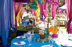 love the colorful tents!!!