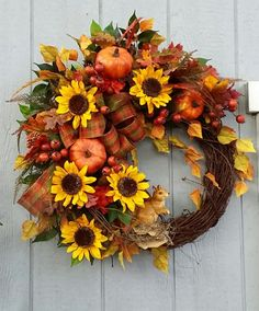 Fall WreathAutumn WreathGrapevine by TheChicyShackWreaths on Etsy
