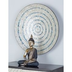 Shop for Modern 27 x 27 Inch Shell Mosaic Wooden Wall Decor by Studio Get free delivery On EVERYTHING* Overstock - Your Online Art Gallery Shop! Get in rewards with Club O! Wooden Wall Panels, Wooden Wall Decor, Wooden Walls, Metal Walls, Metal Wall Art, Buddha Wall Art, Spiritual Decor, Blue Mosaic, Mosaic Wall Art