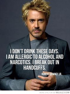 You go, Robert Downey Jr.!