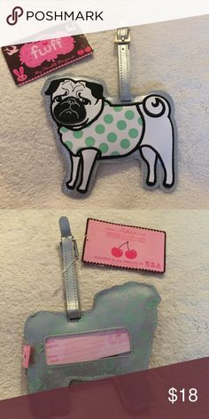 Pug Luggage Tag Brand new never used Accessories