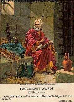 Saint Paul in prison: He wrote 4 of his 13 epistles from prison @ Rome. Prison, Paul The Apostle, Black Hebrew Israelites, Shield Of Faith, Visual Aids, Catholic Saints, Bible Art, New Testament, Religious Art