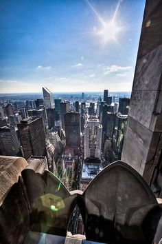 NYC. Eastward view from Top of the Rock - Rockefeller Center.