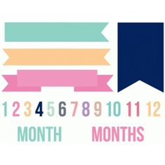 Silhouette Design Store: baby month banner set