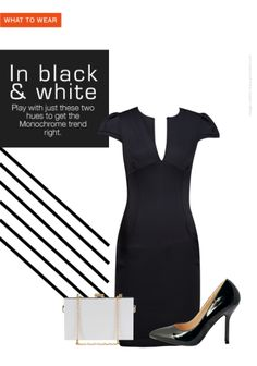 Sleek classy styles #blacksnwhites #trends #officeparty