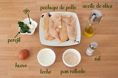 Hamburguesas de pollo caseras y fáciles - Código Cocina Healthy Family Dinners, Cooking Time, Hummus, Garlic, Food And Drink, Healthy Eating, Meals, Fruit, Vegetables