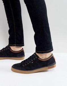 Tommy Hilfiger Harrington Sneakers Suede in Navy