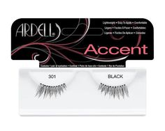 Ardell Lash Accents 301 enhance the density of the natural outer lash