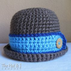 *********** This listing is for a CROCHET PATTERN in PDF format. ***********    Downtown Boy - hes cool, hes cute, hes handsome! This sweet hat will