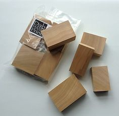 A mixture of squared blocks varying in height and thicknesses. All blocks are finished with a square edge. Blocks may be type high or below.