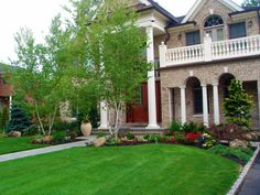 landscaping ideas for front of house | Massapequa Landscape Design poolscape #landscapingideasforfrontyard