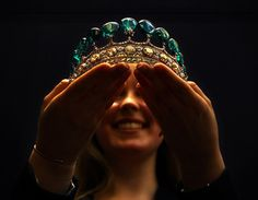 1900 emerald-diamond tiara - a gift from First Prince von Donnersmarck, to his second wife Princess Katharina