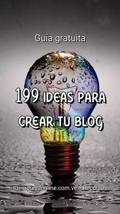 En esta guia vas a encontrar 199 ideas para crear un blog. ¡Revisa si está tu categoría! #ideas #blogging #blog