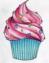 cup cake drawings - Google Search