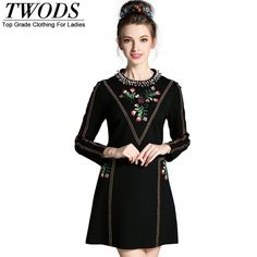 L- 5XL Luxury Beading Neckline Autumn Dress Retro Appliques Long Sleeve Slim Fit Flare Mini Like and Share if you want this http://www.artifashion.net/product/l-5xl-luxury-beading-neckline-autumn-dress-retro-appliques-long-sleeve-slim-fit-flare-mini/ #shop #beauty #Woman's fashion #Products