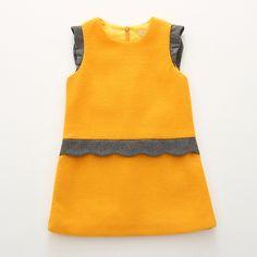 $26.88 (Buy here: https://alitems.com/g/1e8d114494ebda23ff8b16525dc3e8/?i=5&ulp=https%3A%2F%2Fwww.aliexpress.com%2Fitem%2F2015-Fashion-Baby-Girls-Ruffle-Dresses-Knee-Length-A-Line-Cotton-Solid-Dress-Toddler-Girl-Clothing%2F32442037787.html ) 2016 Fashion Baby Girls Ruffle Dresses Knee-Length A-Line Cotton Solid Dress Toddler Girl Clothing Wholesale 8001 for just $26.88