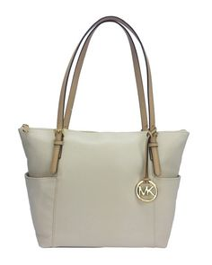 b4fcbed42851 MICHAEL KORS JET SET ITEM EAST WEST TZ TOTE VANILLA  199 Send Gifts