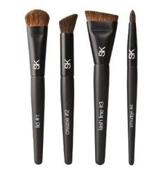 Sonia Kashuk® Smokey Eye Brush Set by Sonia Kashuk®. $24.99. Number of Pieces: 5. Achieve an effortless smokey eye in four easy steps with this paint by numbers brush set, complete with step-by-step how-tos from Sonia Kashuk. Each brush is crafted for a specific use to make it quick and effortless. Apply a wash of dense, all-over color with #1 Lid Brush, then use #2 Crease Brush, an angled flat top brush, for added depth in the crease. Next, use #3 Lash Line, a ...