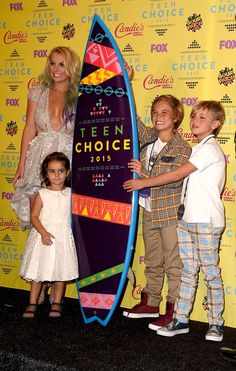 Britney Spears With Her Sons, Sean Preston and Jayden James, and Niece Maddie