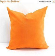 SALE Orange Pillow. Fresco Tango Pillow case. Indoor outdoor