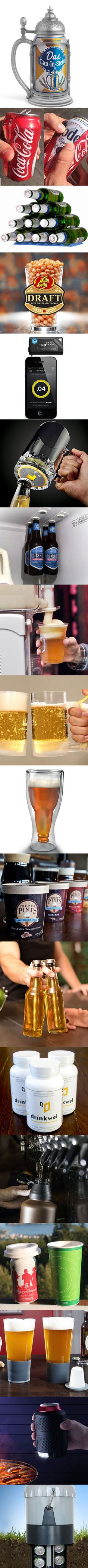 18 Clever Beer Gadgets For The Alcohol Inclined Beer Brewing, Home Brewing, Cheers, Gifts For Beer Lovers, Fun Drinks, Cool Gadgets, Bartender, Craft Beer, Brewery