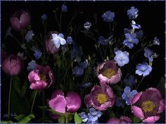 Результат изображения мультипликационных красивых цветов и блеск