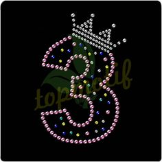 Crystal Heat Transfer Number 3 Rhinestone Motif For Clothing Accessories