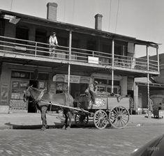 """Jacksonville, Florida. Street scene in the Negro section.""  February 1943 http://www.shorpy.com/node/21454 Photo by Gordon Parks"