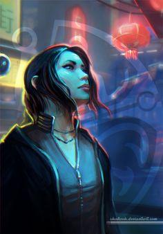 Cyberpunk woman More