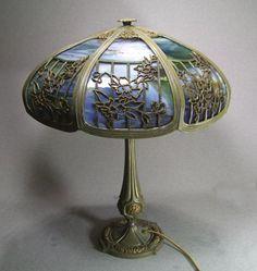 Bradley and Hubbard Slag Lamp Circa 1910   eBay   lighting ...