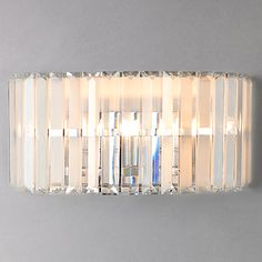 Buy John Lewis Frieda Wall Light, Large from our View All Wall Lighting range at John Lewis. Free Delivery on orders over Glass Wall Lights, Ceiling Lights, Glass Bar, Sconce Lighting, Wall Lighting, House Lighting, All Wall, Light Fittings, Light Shades