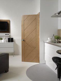Monza Oak Internal Door, Modern Doors