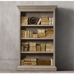French Panel Single Shelving ($1,595) ❤ liked on Polyvore featuring home, furniture, storage & shelves, bookcases, shelf furniture, french furniture, shelves furniture, book shelves and restoration hardware shelf