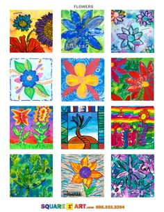 FLOWER ART IDEAS www.square1art.com
