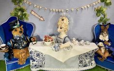A Mad Tea Party with the characters The Hatter, The Hare, The Dormouse and Tea Party Alice will be hosted by pic-nice-bears at Hugglets Winter Bearfest Kensington Town Hall, Kensington, London. until Hall 4 stand we hope to see you there! Pic Nice, Kensington London, Town Hall, Hare, Tea Party, Cool Pictures, Alice, Characters, Table Decorations