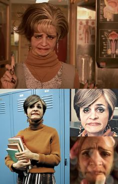 "Amy Sedaris as 'Geraldine ""Jerri"" Antonia Blank' in Strangers with Candy (1999-2000, Comedy Central)"