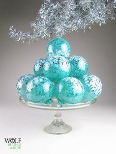 Blown Glass Christmas Tree Ornament Suncatcher by wolfartglass, $28.00