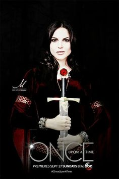 Awesome Regina on an awesome poster for awesome Once S5 Regina holding an awesome sword for Camelot