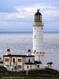 Corsewell Point Lighthouse, nr Kirkcolm, Northern Tip of the Galloway Peninsula. Corsewall lighthouse guards the peninsula where Loch Ryan and the North Channel meet. Automated in 1994, the Lightho...