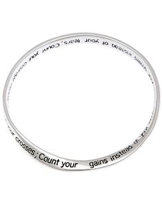 Inspirational quote poem engraved count your blessings mobius bangle bracelet christian jewelry religious ** Hurry! Check out this great item : Jewelry