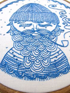 SEA CAPTAIN pdf embroidery pattern sailor design by cozyblue a cozyblue embroidery pattern ahoy there, stitchers! this charming nautical fellow is available now in PDF for you, and ready to Embroidery Designs, Embroidery Sampler, Modern Embroidery, Cross Stitch Embroidery, Cross Stitch Patterns, Hand Embroidery Patterns, Sea Captain, Nautical Theme, Nautical Pattern