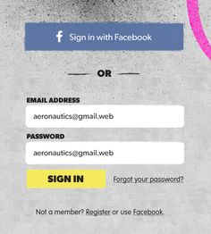 In progress login form, All dolled up.