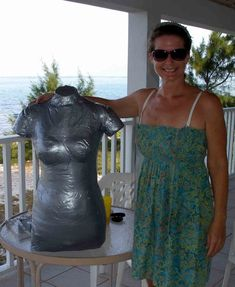 Duct tape dress form - the finished body double