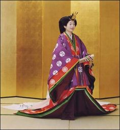 Princess Sayako in ancient Japanese formal court ensemble junihitoe (twelve-layered kimono) is seen at the Imperial Palace in Tokyo in this picture released by the Imperial Household Agency of Japan November 11, 2005. Princess Sayako is the only daughter of Emperor Akihito and Empress Michiko.