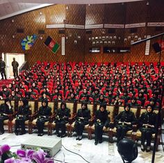 Graduation ceremony for female officers of Afghan National Army, early 2016.