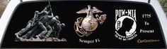 Marine Corps Salute POW/MIA & Iwo Jima Memorial Mural