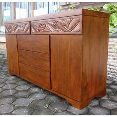 Palm Leaf Large Door Dresser At Elementfinefurniture.com Hand Made Solid Wood Furniture Solid Wood Furniture, Unique Furniture, Bedroom Furniture, Home Furniture, Large Drawers, Dresser Drawers, Hand Carved, Coastal, Palm