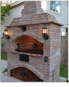 Attributes In Bbq Grilles Purchasing – Outdoor Kitchen Designs Outdoor Kitchen Patio, Pizza Oven Outdoor, Outdoor Kitchen Design, Outdoor Cooking, Outdoor Fireplace Designs, Backyard Fireplace, Parrilla Exterior, Barbecue Design, Brick Grill