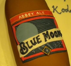 Blue Moon Beer Cake - super fun to make! By The Cake Diva!  Kody's 21st birthday cake!