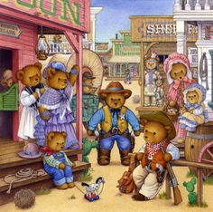 Teddies Go West - CAROL LAWSON
